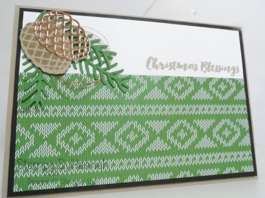 Christmas Countdown Video Tutorial using Christmas Pines and Warmth and Cheer from Stampin' Up! UK