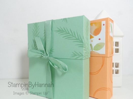 Note cards and envelopes gift box using Fresh Fruit from Stampin' Up! UK