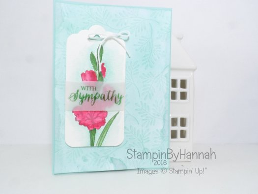 Sympathy card using gifts of love hostess stamp set from Stampin' Up! UK