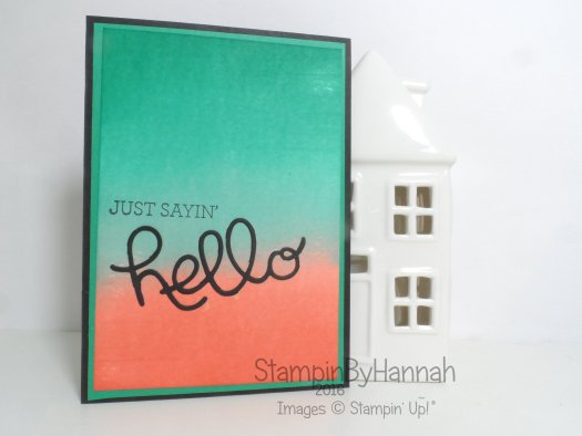 How to video tutorial ombre background crazy about you Stampin' Up! UK