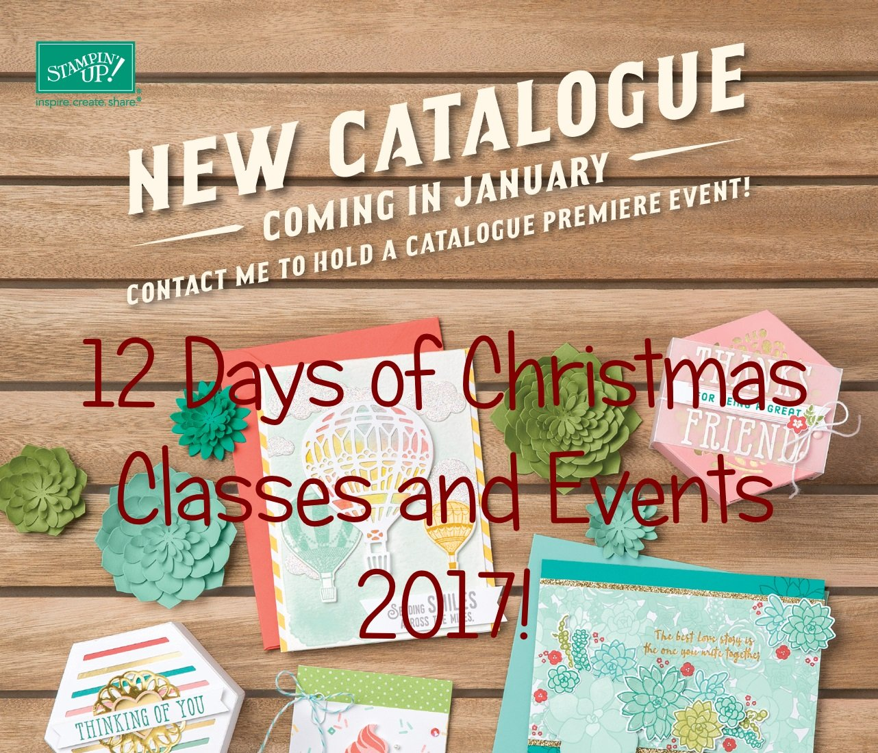 Online Card Classes UK using Stampin' Up! UK products