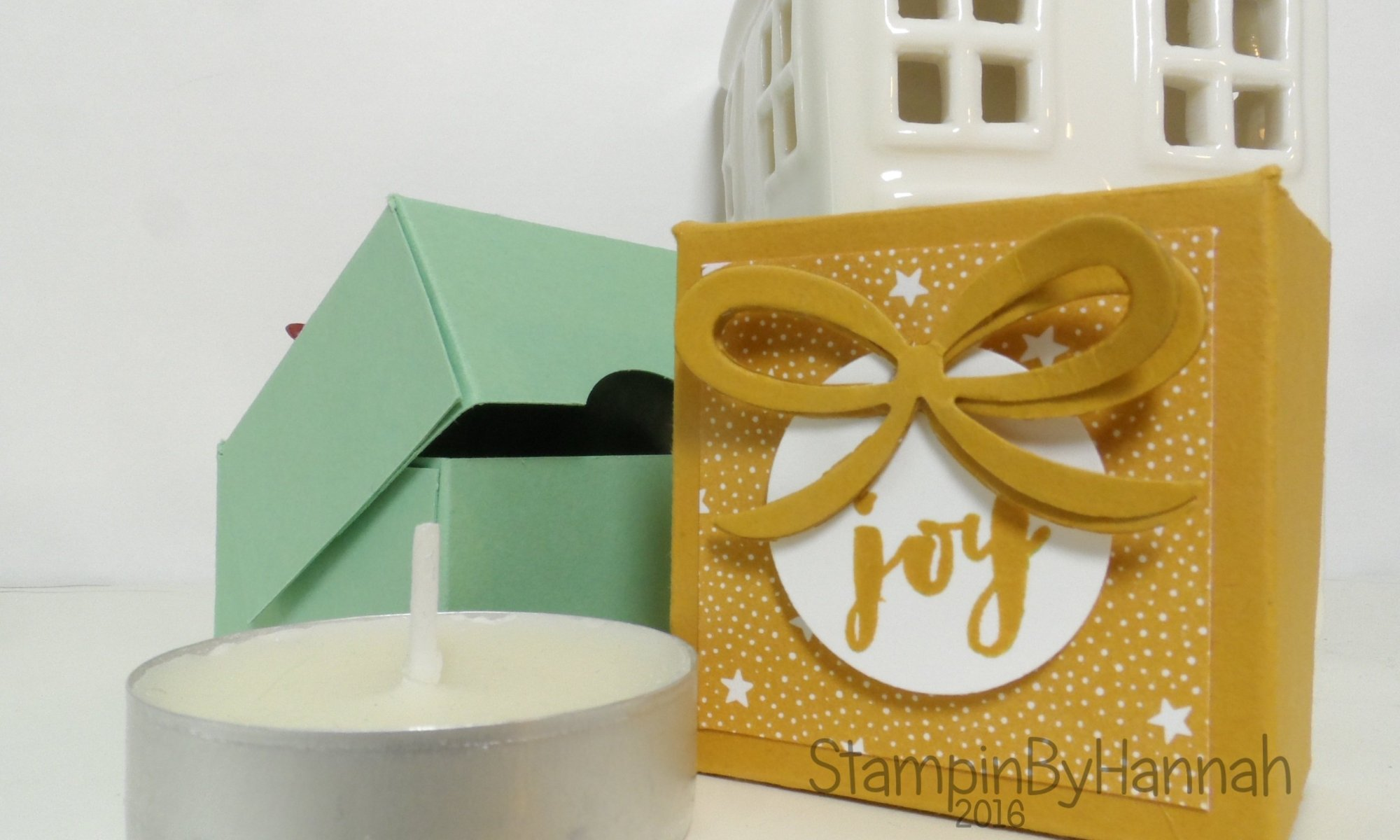 12 Days of Christmas single tealight box video tutorial using Christmas Pines from Stampin' Up! UK
