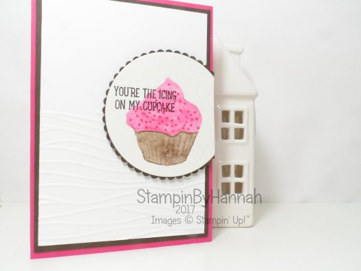 Make It Monday video tutorial using Sweet cupcake and watercolour pencils from Stampin' Up! UK