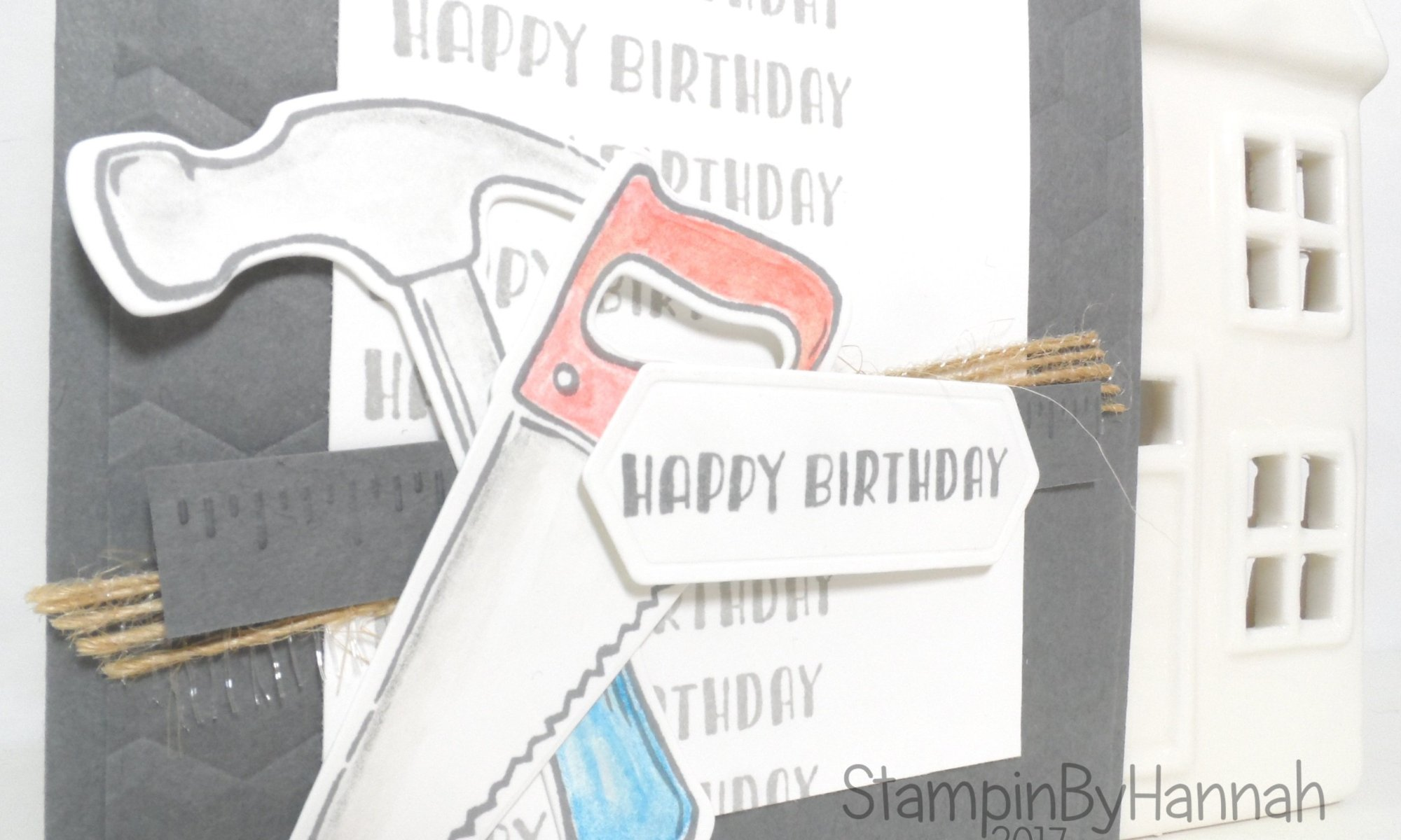 Men's birthday card using Nailed It from Stampin' Up! UK
