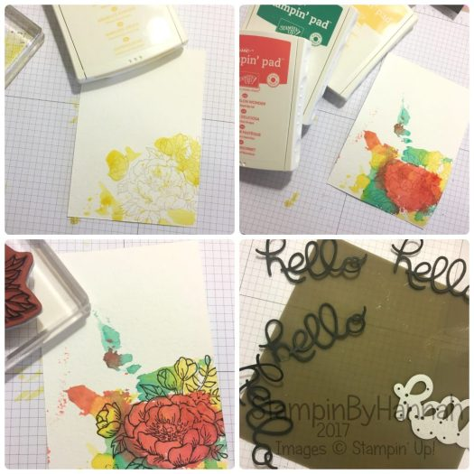 Global Design Project #GDP073 Watercolour smooshing how to