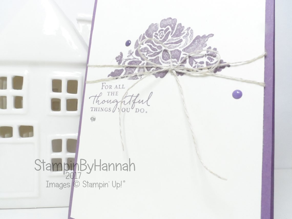 Floral Phrases Thank You Card using Stampin' Up! products