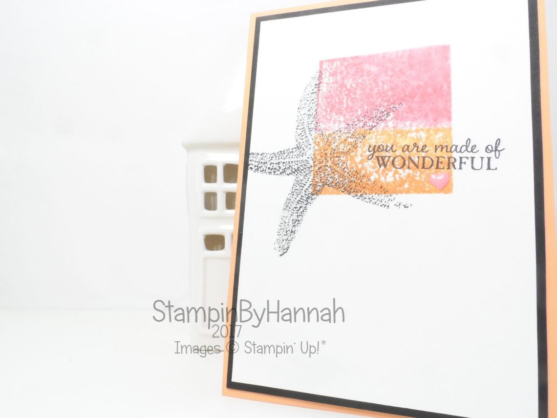 Make It Monday Video Tutorial watercolour acrylic block stamping with Picture Perfect from Stampin' Up!