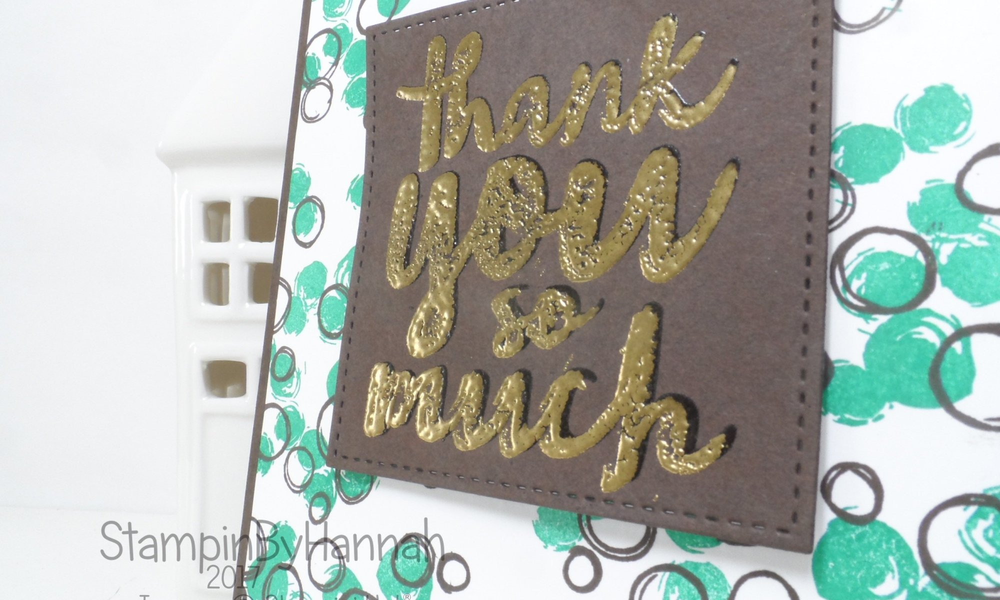 Make It Monday Video Tutorial creating a fun thank you card using the faux shadow embossing technique with Thankful Thoughts and Playful Backgrounds from Stampin' Up!