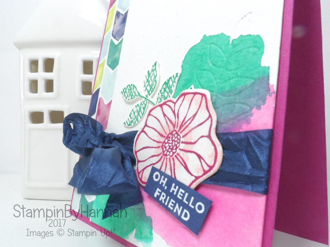 Pootles Papercraft Team Blog Hop Hello Friend card using Oh So Eclectic from Stampin' Up!