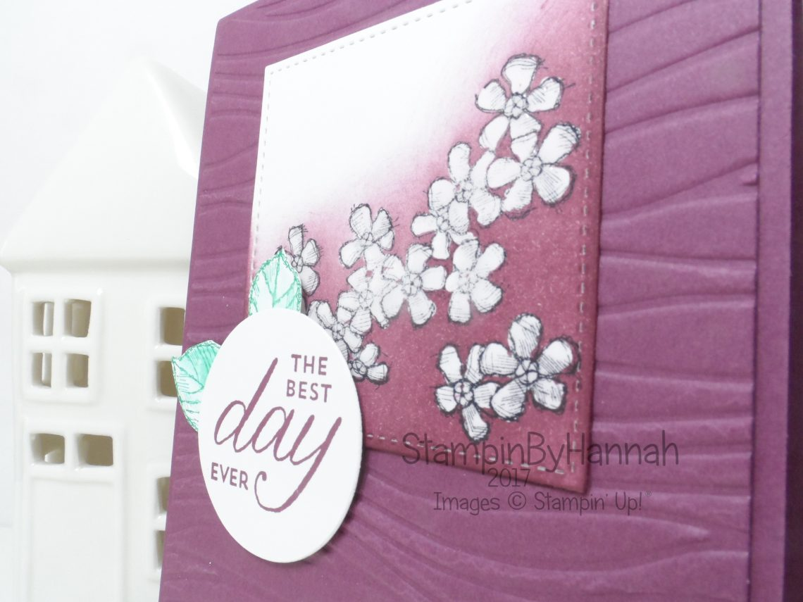 Techniques series masking video tutorial masking with glue floral card using Birthday Blossoms from Stampin' Up