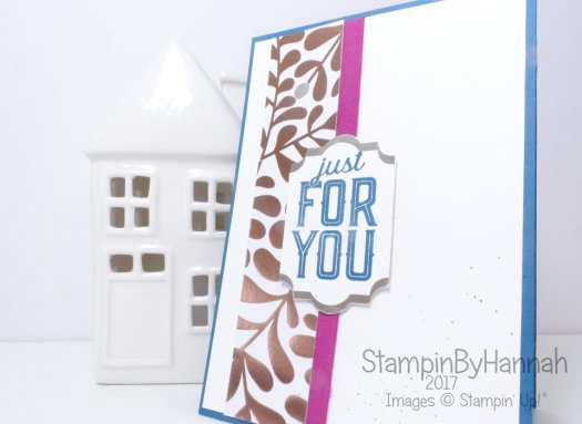 Anything but the holidays blog hop Just For You card using Merry Little Labels from Stampin' Up!