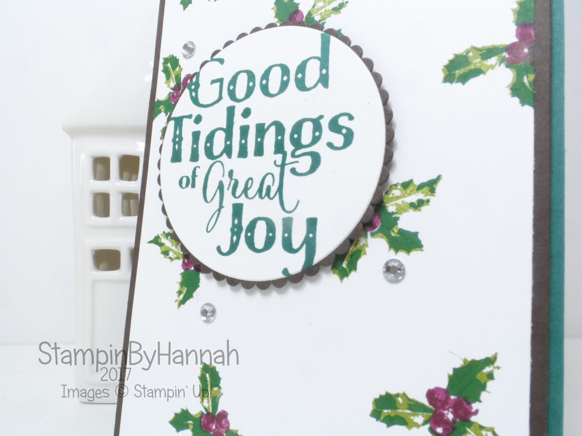 Creating your own Designer Series Paper using Good Tidings from Stampin' Up!