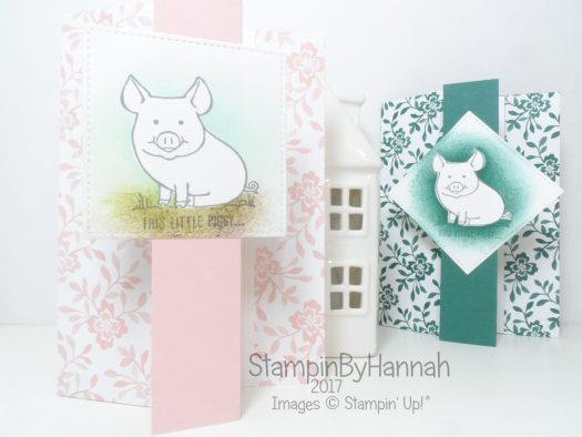 Video Tutorial How to Create a fun Z fold card using This Little Piggy from Stampin' Up!
