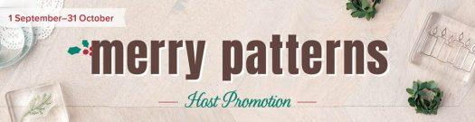 Srtampin' Up! Merry Patterns Hostess Exclusive Stamp Set