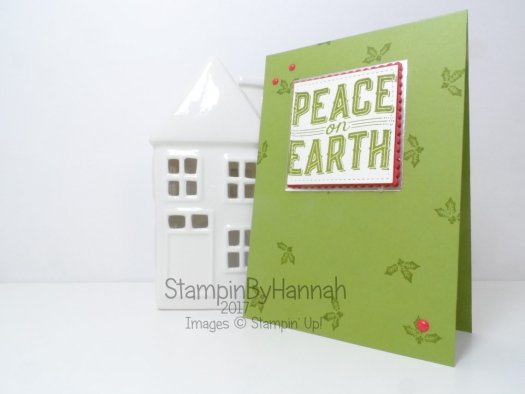 Facebook Live Quick and Easy Christmas Card using Carols of Christmas from Stampin' Up!