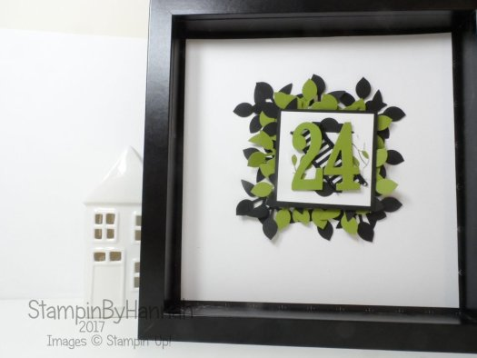 Christmas Countdown Calorie Free Advent Calendar Video Tutorial using Merry Little Christmas from Stampin' Up
