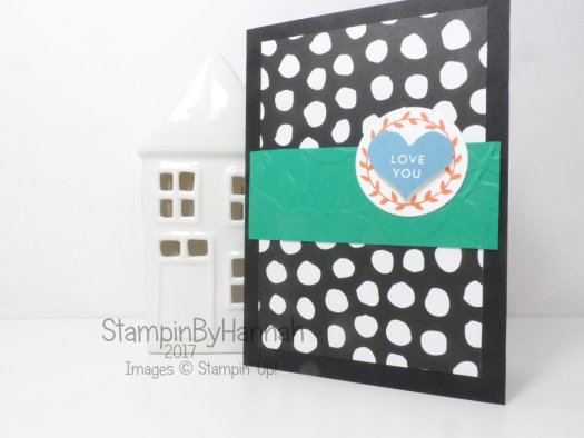 Love You card using Whole Lot of Lovely Designer Series Paper from Stampin' Up!