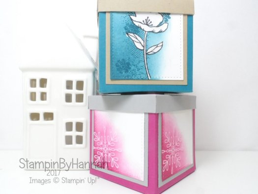 Make It Monday Large Box with Lid using Snowflake Sentiments from Stampin' Up!
