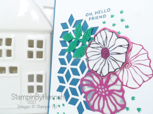 Oh So Eclectic Online Card Class sample using Stampin' Up! UK products