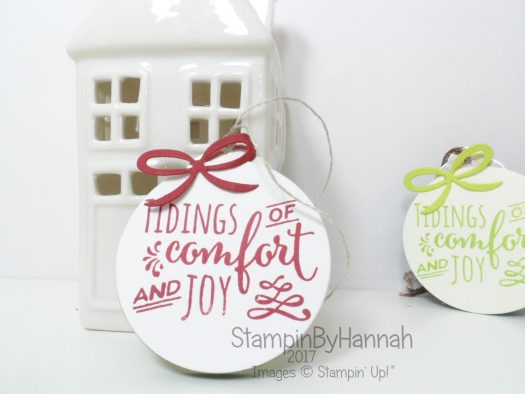 Christmas Countdown Bauble Style Gift Tags Video Tutorial using Christmas Pines from Stampin' Up!