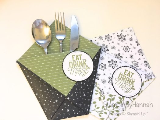 Christmas Countdown Super Sized Treat Pockets Video Tutorial using Merry Little Christmas Designer Series Paper from Stampin' Up!