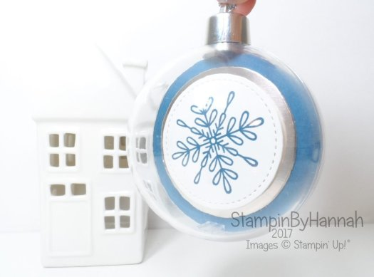 Christmas Countdown How to fill your clear Baubles using Stampin' Up! UK products