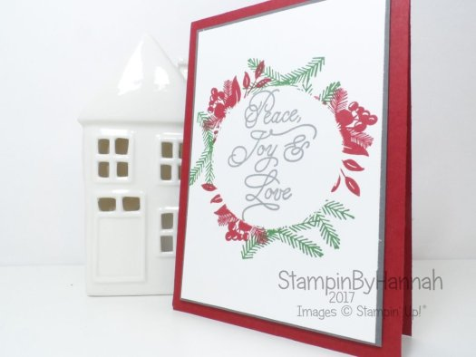 StampinByHannah Facebook Live Christmas Card using Peace this Christmas by Stampin' Up!