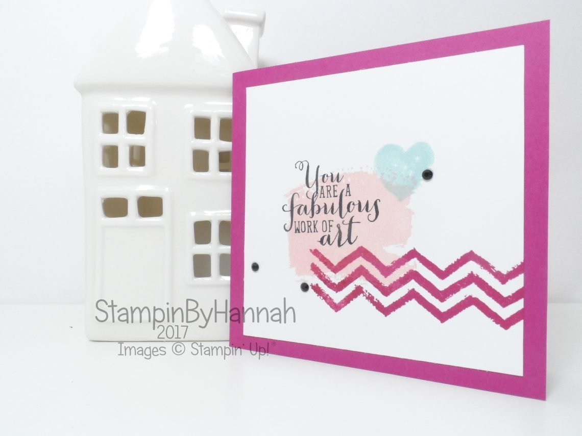 tampinByHannah Facebook Live Cute Card using Work of Art by Stampin' Up!