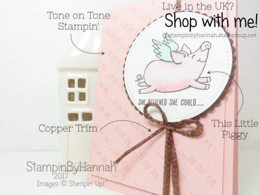 Stampin' Blends This Little Piggy Card using Stampin' Up! products
