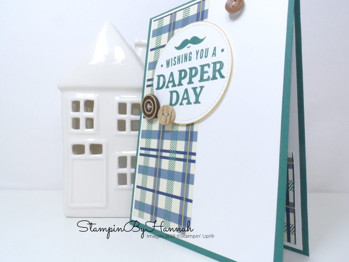 Birthday Card Week Quick and Easy Guys Birthday Card using True Gentleman from Stampin' Up!