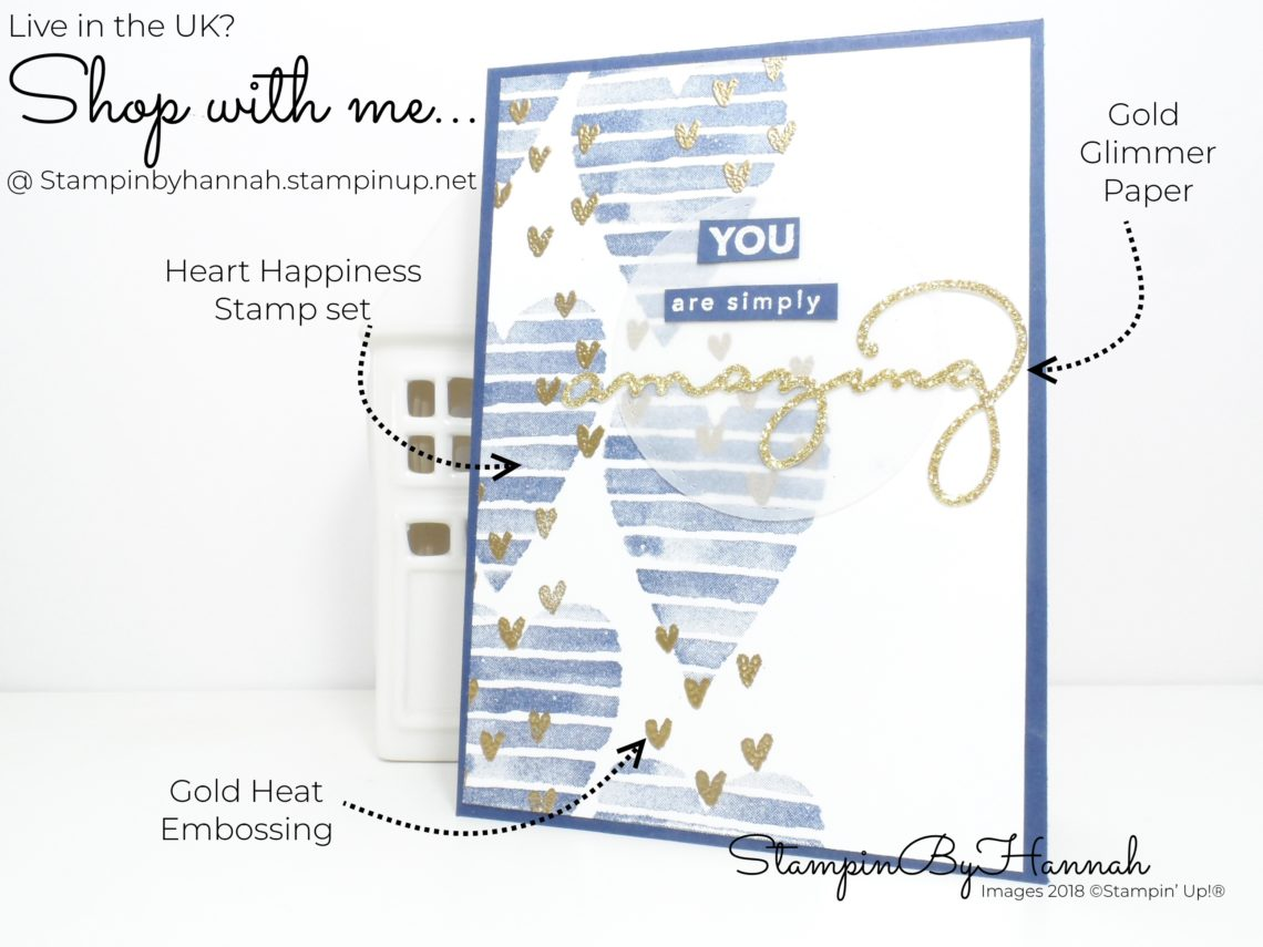 Fun Heart Happiness Valentines Card for the InspirINK blog hop using Stampin' Up! products
