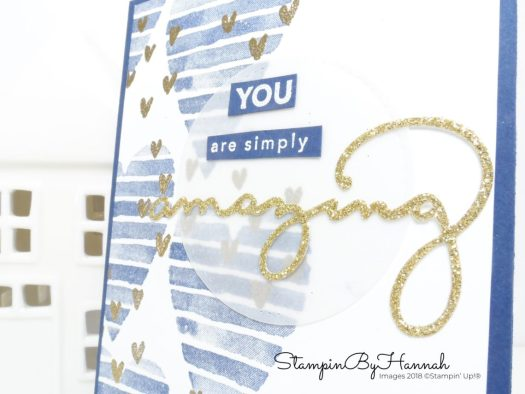 Fun Sale-a-bration Heart Valentines card using Heart Happiness and Amazing You from Stampin' Up!
