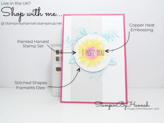 How to make a Bright and Fun Valentines Card using Painted Harvest from Stampin' Up!