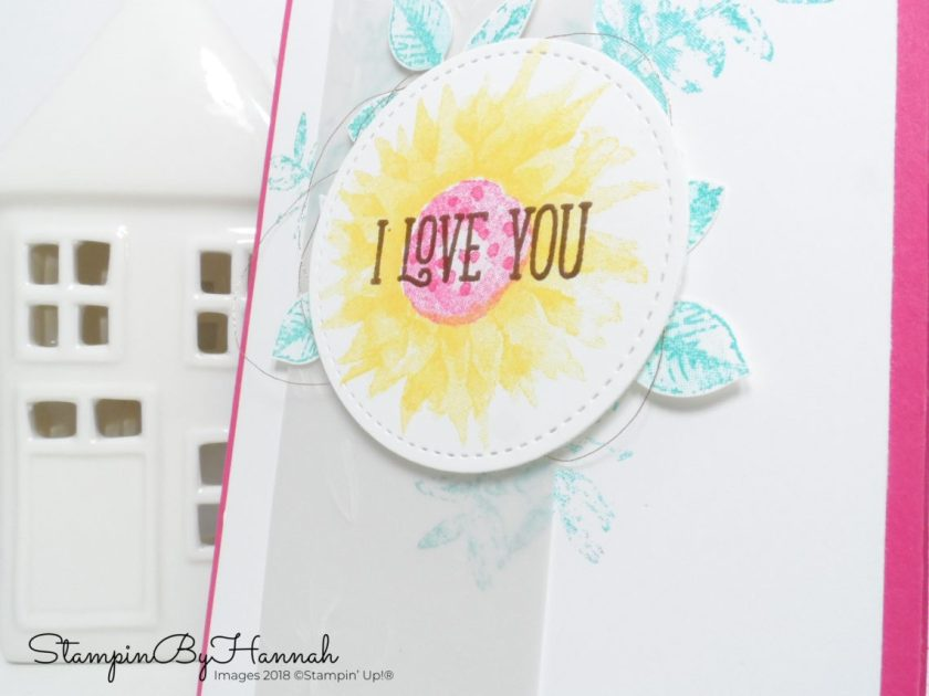 Bright and Fun Valentines Card using Painted Harvest from Stampin' Up!