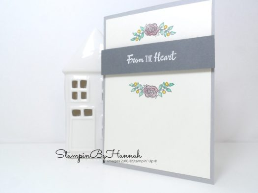 Quick and Easy Just Because card using Lots of Lavender and Petal Palette from Stampin' Up!