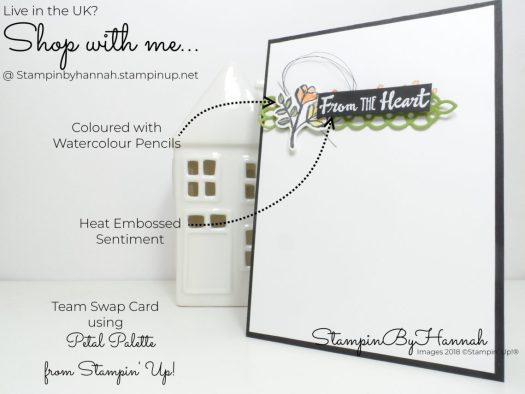 Make It Monday Petal Palette Team Swap card using Stampin' Up! products