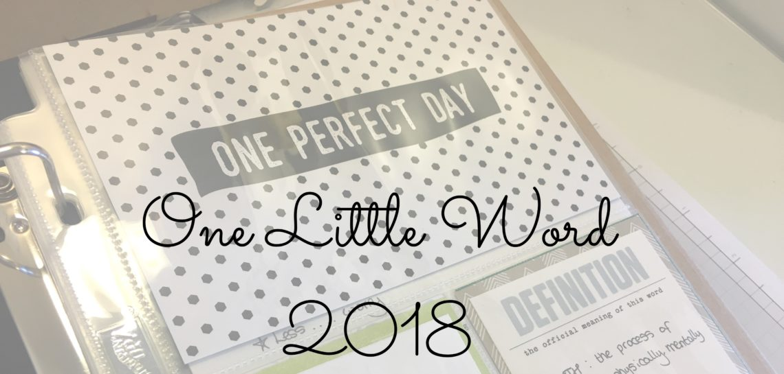 One Little Word using Memories and More from Stampin' Up!