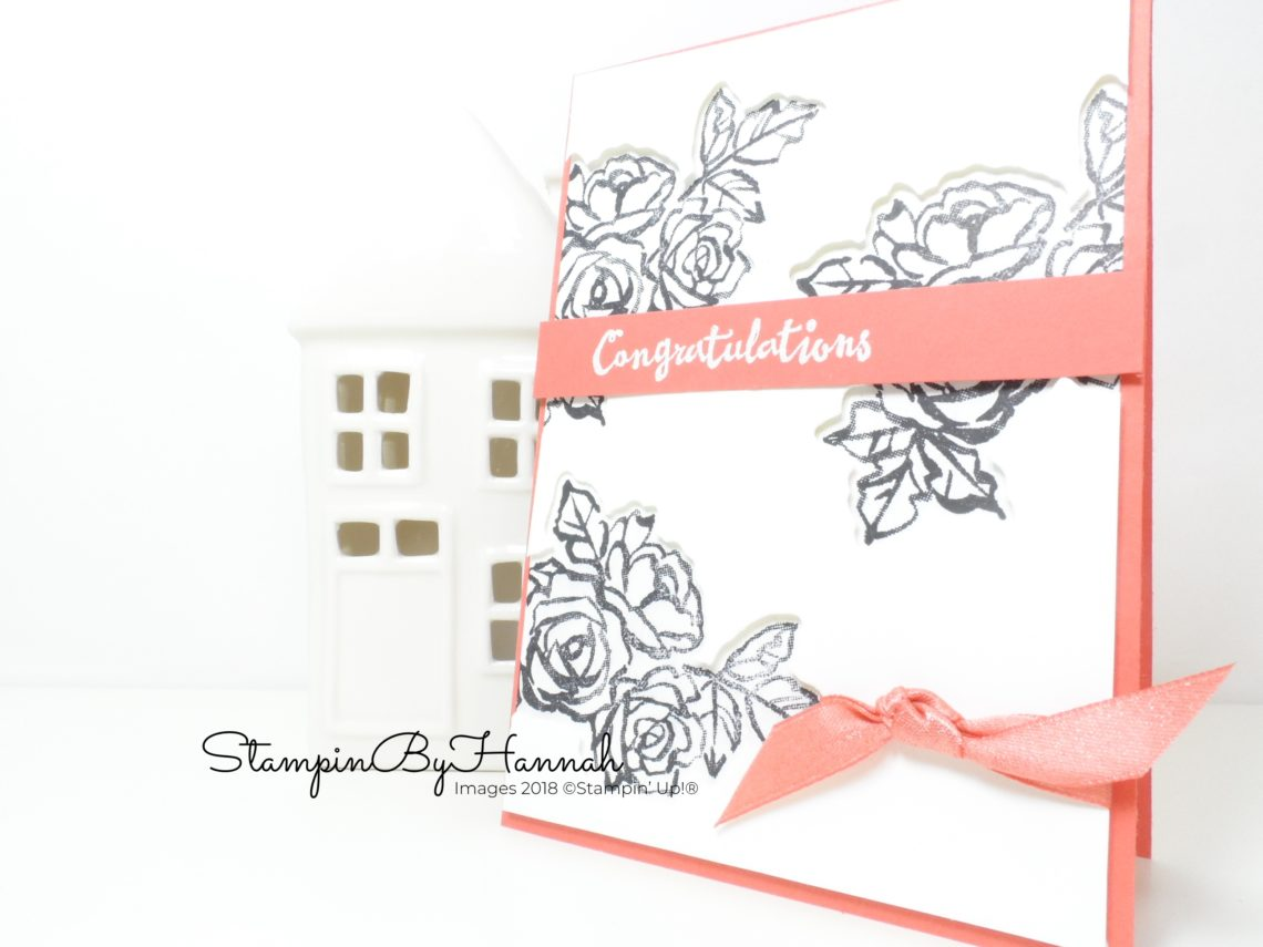 Techniques Video Tutorial How to make a fun Congratulations card using Petal Palette from Stampin' Up!