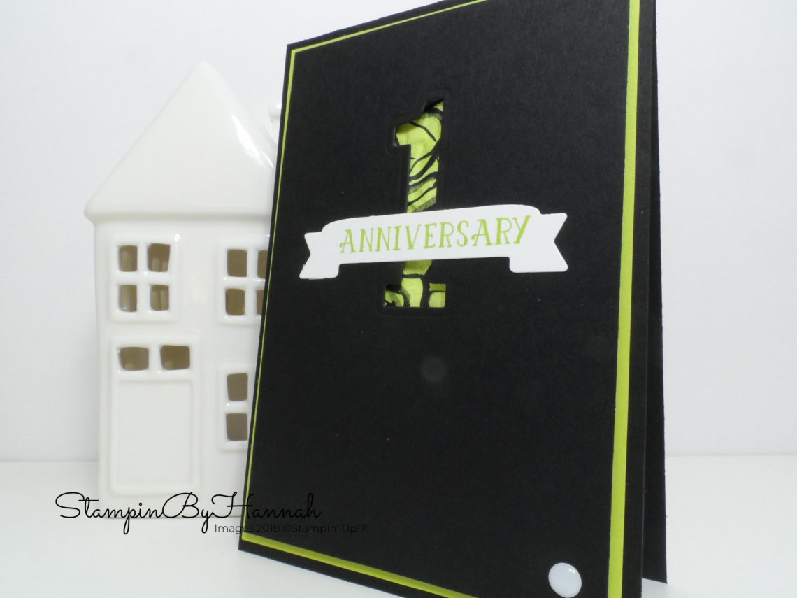 Bright and fun anniversary card using Number of Years from Stampin' Up!