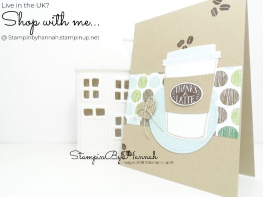Quick and Easy Thank You Card using Coffee Cafe from Stampin' Up!