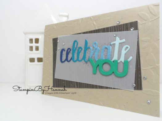 Ombre Die Cutting with Celebrate You from Stampin' Up!