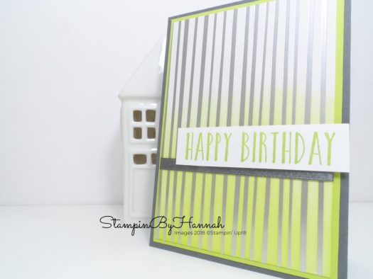 How to make a fun and quick card using Springtime Foils Designer Series Paper from Stampin' Up! Sale-a-bration