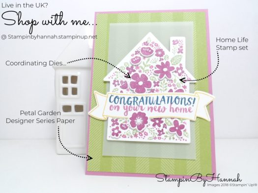 How to make a fun and fabulous new home card using Home Life from Stampin' Up!