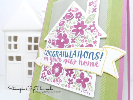 Quick and easy card new home card using Home Life from Stampin' Up!