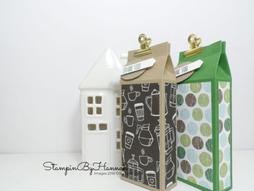 Quick and fun Box tutorial using Coffee Break Designer Series Paper from Stampin' Up!