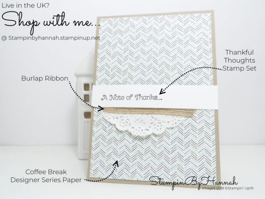 Make It Monday How to Make a quick card with Coffee Break Designer Series Paper from Stampin' Up!