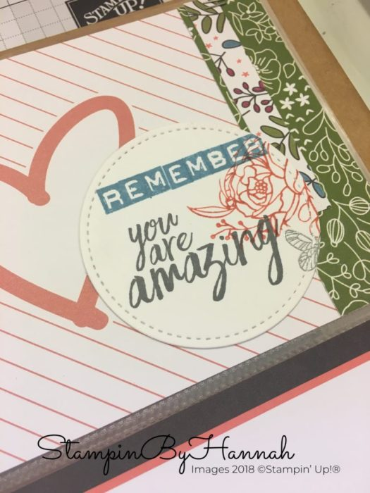 Remember You Are Amazing Quote using Memories and More from Stampin' Up!