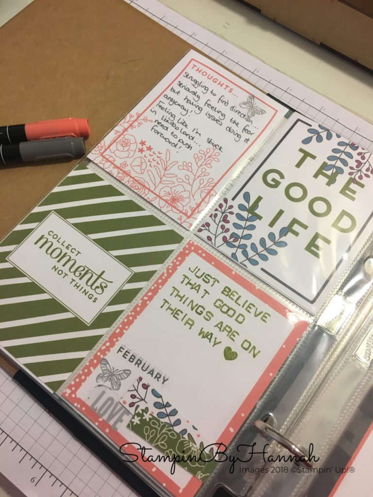 How to use Stampin' Up! Memories and More in One Little Word from Ali Edwards