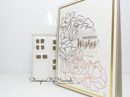 Classic wedding card using Springtime Foils Designer Series Paper from Stampin' Up! Sale-a-bration