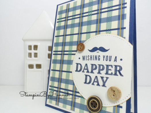 Quick and fun Facebook Live Masculine Card using Truly Tailored from Stampin' Up!